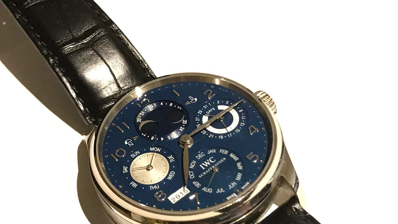 IWC Perpetual Calender Hemisphere Blue Moonphase in White Gold