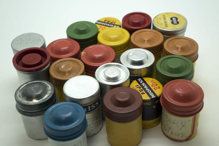 Antique Film Canisters