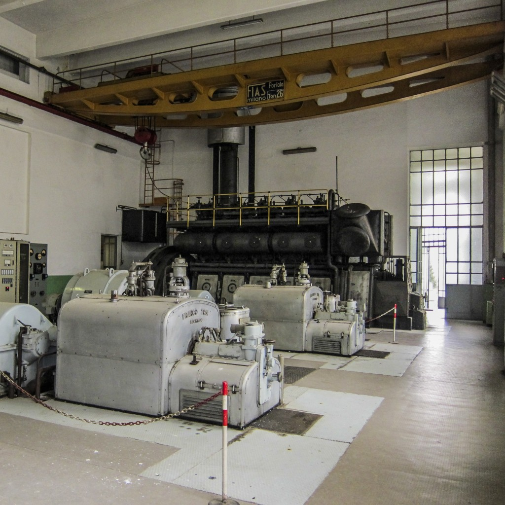 An inside view of the power station.