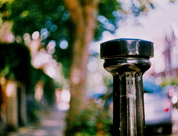 Lomography's Sunset Strip 100 on an old Zenit 3M – bold contrast and grain on a bright sunny day