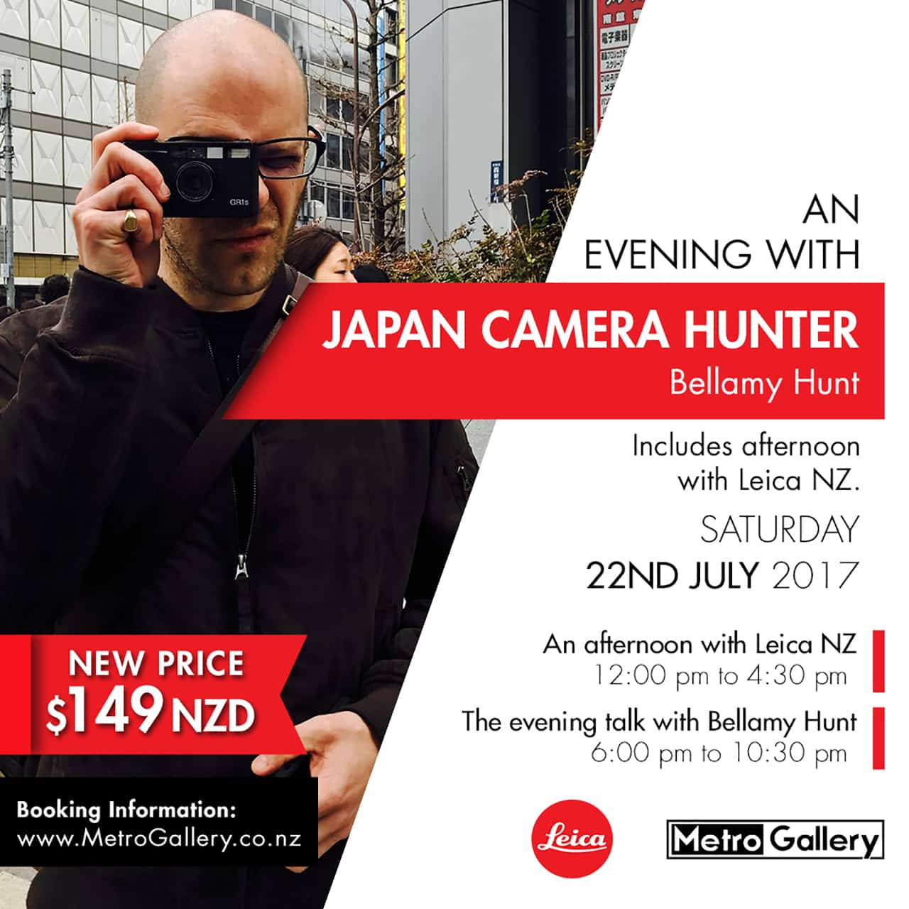 JCH is coming to NZ!