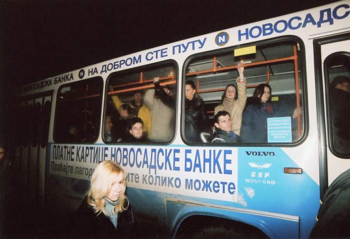 Crowded Bus, Novi Sad, Serbia, 2005