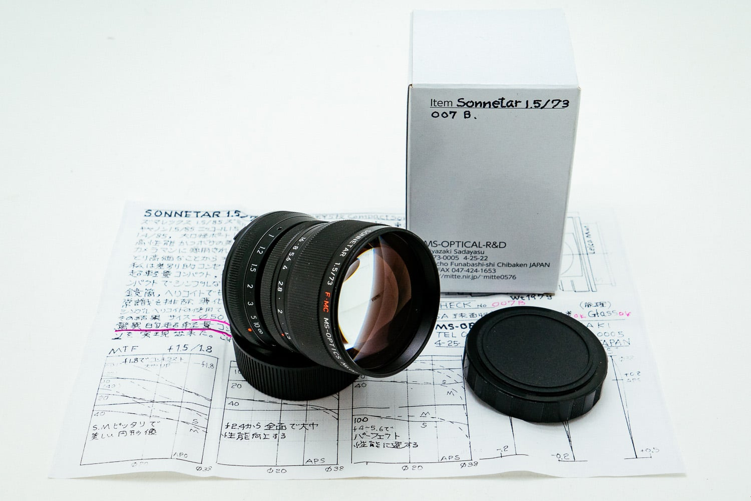 Camera Geekery: MS Optics Sonnetar 73mm f1.5 FMC