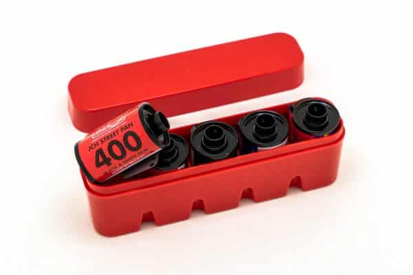 JCH 35mm film half case in red