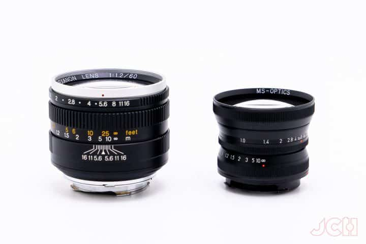 MS Optics ISM 50mm f1 vs. Konica Hexanon 60mm f1.2